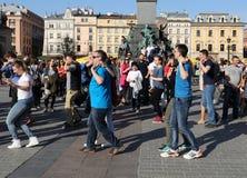 Internationell Flashmob dag av Rueda de Kasino, Arkivbilder