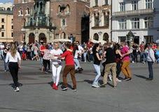 Internationell Flashmob dag av Rueda de Kasino, Arkivfoton