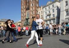 Internationell Flashmob dag av Rueda de Kasino, Arkivfoto