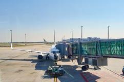 Internationell flygplats av Prague Arkivfoto