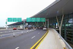 Internationell flygplats för Nanjing lukou, porslin Arkivbild