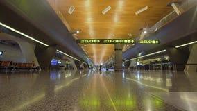 Internationell flygplats i Doha, Qatar stock video