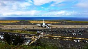 Internationell flygplats Ponta Delgada/Azores/Portugal arkivbild