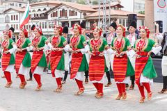 Internationell folkdansfestival i Amasya royaltyfri bild