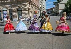 Internationell folklorefestival, 2017 , Zagreb, Kroatien, 87 Royaltyfria Foton