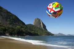 Internationell fotbollfotbollboll Rio de Janeiro Brazil Arkivfoton