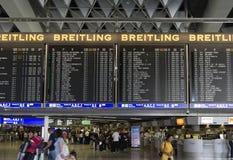 Internationell Frankfurt flygplats Arkivbild