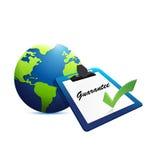 internationell garantibegreppsillustration Arkivbilder