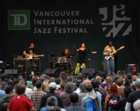 internationell jazz vancouver för festival Arkivfoton