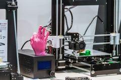 Internationell konferens och utställning av printing 3D och scann Royaltyfria Bilder