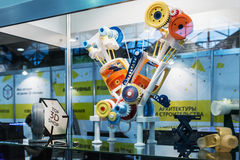 Internationell konferens och utställning av scann 3D-printing Arkivfoto