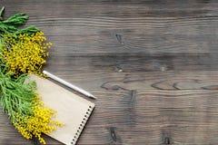 Internationell kvinnadag för begrepp med bästa sikt blommaför träbakgrund Arkivbild