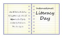 Internationell läs-och skrivkunnighetdagvektor Royaltyfri Illustrationer