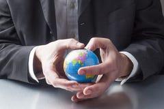 Internationell ledning med miljö- bekymmer Arkivbild