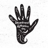 Internationell Lefthandersdag vektor illustrationer