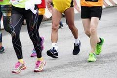 Internationell maraton 2015 i Shanghai Arkivbild