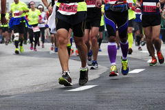 Internationell maraton 2015 i Shanghai royaltyfria bilder