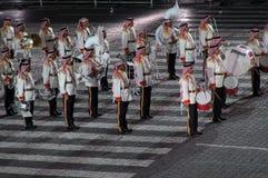 internationell militär musikal för festival Fotografering för Bildbyråer
