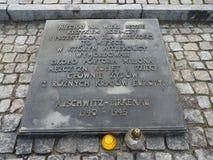 Internationell monument till offren av lägret i en koncentrationsläger auschwitz birkenau Royaltyfri Foto