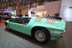 internationell motorisk show 2018 för 88th Genève - bil 1968 för Bizzarini Mantabegrepp Royaltyfri Fotografi