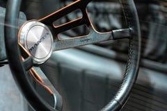 internationell motorisk show 2018 för 88th Genève - hjul 1968 för styrning för bil för Bizzarini Mantabegrepp Royaltyfri Fotografi