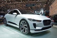 internationell motorisk show 2018 för 88th Genève - Jaguar Jag-hastighet Arkivbild