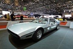 internationell motorisk show 2018 för 88th Genève - Lamborghini Marzal begrepp 1967 Arkivbild