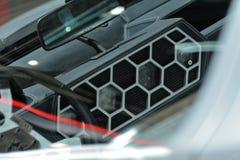 internationell motorisk show 2018 för 88th Genève - Lamborghini Marzal begreppsinre 1967 Arkivbild