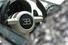 internationell motorisk show 2018 för 88th Genève - Mansory Bugatti Veyron Diamond Edition styrninghjul Royaltyfri Fotografi