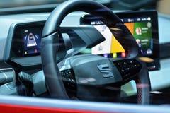 internationell motorshow för 89th Genève - Cupra Formentor begreppsinre royaltyfria bilder