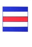 internationell nautisk signalering för charlie flagga royaltyfria foton