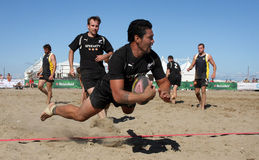 internationell ny rugby zealand för strand Royaltyfria Bilder