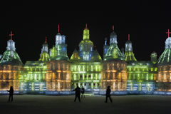 Internationell is och festival för snöskulptur, Harbin, Kina Royaltyfri Foto