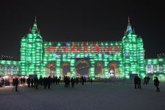 Internationell is och festival för snöskulptur, Harbin, Kina Royaltyfri Fotografi