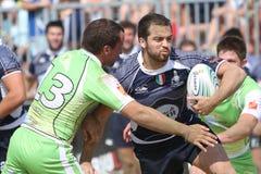 internationell rugbyturnering för strand Royaltyfri Fotografi