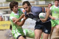 internationell rugbyturnering för strand Royaltyfria Bilder