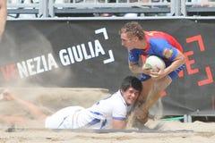internationell rugbyturnering för strand Fotografering för Bildbyråer