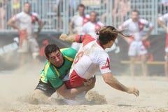 internationell rugbyturnering för strand Arkivfoto