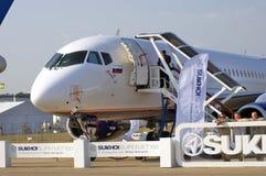 Internationell rymdsalong för MAKS superjet för sukhoi 100 Arkivfoton