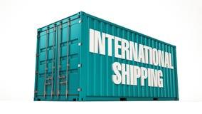 Internationell sändningsbehållare Arkivfoto