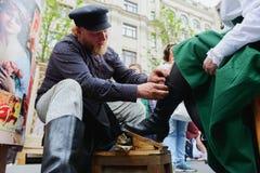Internationell shiner för festivalgatasko arkivfoto