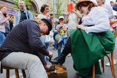 Internationell shiner för festivalgatasko arkivbilder