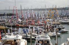 internationell show southampton för fartyg arkivfoton
