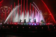 Internationell showcirkel av ljus i Moskva Royaltyfri Foto