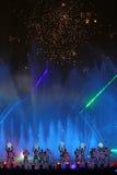 Internationell showcirkel av ljus i Moskva Royaltyfria Foton