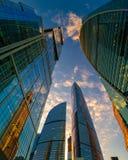 Internationell stad för Moskva för affärsmitt Arkivfoton