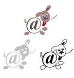 Internationell teckenemail, djurhund vektor illustrationer