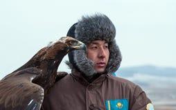 Internationell turnering av förlage av jakt med jaktfåglar Arkivbild