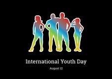 Internationell ungdomdagvektor Fotografering för Bildbyråer
