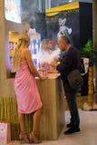 Internationell utställning för VAPEXPO av den elektronisk cigaretten och vap Royaltyfri Bild